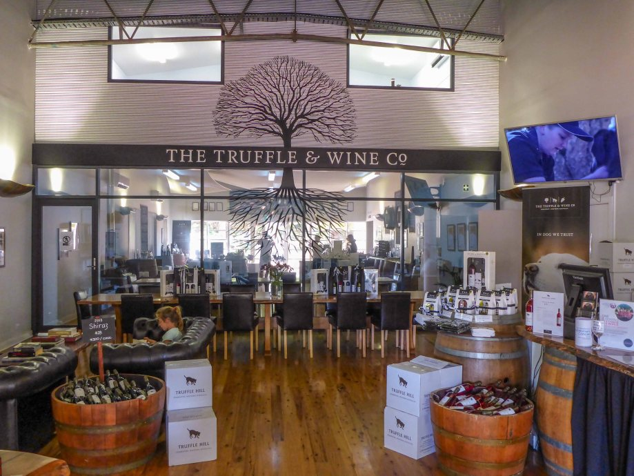 19-1 inside truffle and wine company entrance