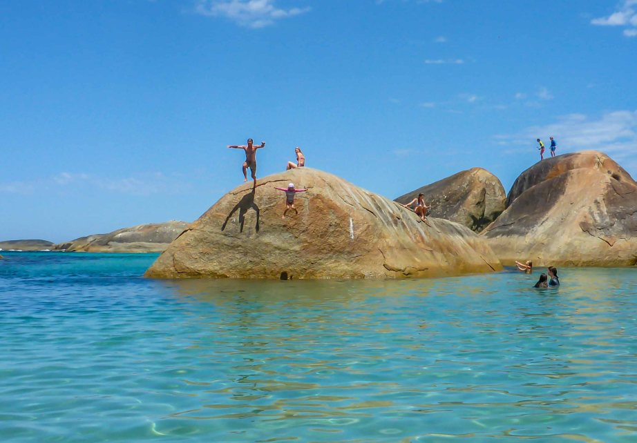 28-1 elephant cove jumping off rock
