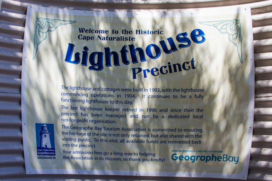 8-1 Cape Naturaliste lighthouse sign