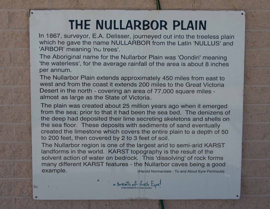 16-2 nullabor plain sign